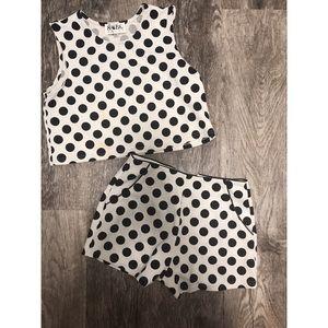 Sabo Skirt two piece polka dot outfit
